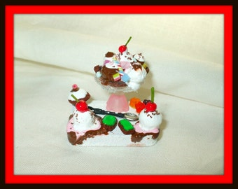 dollhouse miniature ice cream tray fairytale ooak Custom orders Welcome birthday candyland