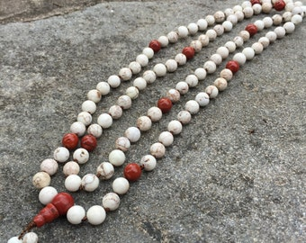 Magnesite 108 Bead Mala Necklace