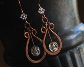 Copper Jewelry, Copper Earrings, Celtic, Viking, Artisan Made