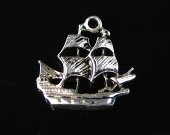 Charm, Sterling Silver, Boat, Ship, Nautical Charm