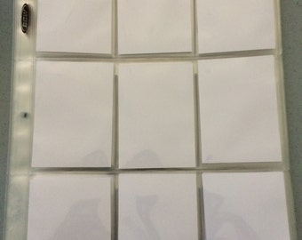 10 plastic sleeves and 90 generic ATC size art tiles