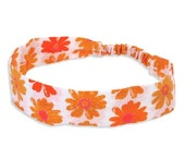 50% off Clearance Sale - Orange Blossom Fabric Headband - --- Sale --- - only medium remain