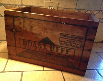 Wooden Libby's Roast Beef Crate