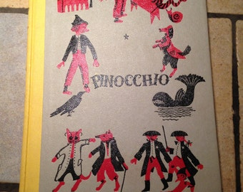 1955 Pinocchio Junior Deluxe Edition Children's Book