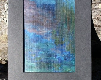 Mini Oil Painting, OOAK Abstract Landscape