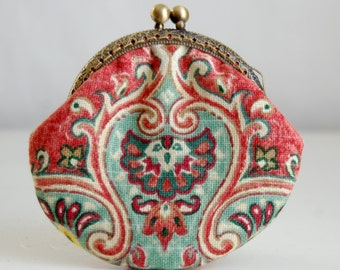 Sari Coin Purse Change Pouch with Metal Kiss Lock Clasp Frame - READY TO SHIP
