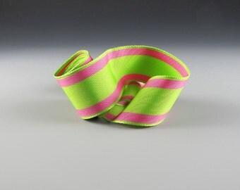 "1"" and 1.5"" WEDDING PINK GREEN Grosgrain Ribbon 20 Yard Roll Wholesale"