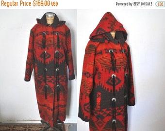 SALE WOOLRICH Blanket Coat / Southwest Navajo / 1980s / M-L