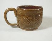 Brown Celtic Soup Mug, Celtic Coffee Mug, Coffee Mug, Large Mug, Large Coffee Mug, Handmade Pottery