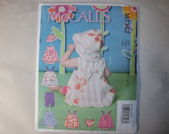 New McCall's Baby Clothes Pattern, M7342 (Free US Shipping)
