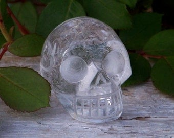 "QUARTZ CRYSTAL Skull, 1.5"" Clean"
