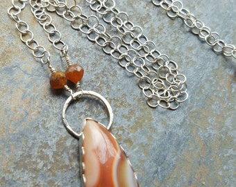 Botswana Agate Sterling Silver Necklace