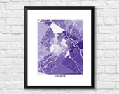 Scranton PA Art Map Print.  Color Options and Size Options Available.  Map of Scranton Pennsylvania.