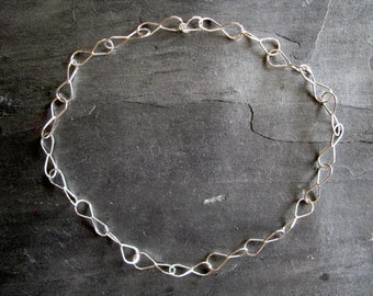 Price reduced..Handmade Sterling Silver Chain - a Jeweler's Favorite