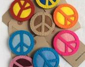 Badge - Wool Felt - Peace CND - Peace - Hippie - Campervan - VW