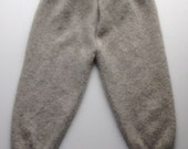 Diaper Cover Wool Longies - Soft Grey Recycled Cashmere Wool Longies
