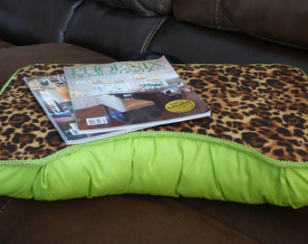 Large Leopard and Lime Green Lap Desk