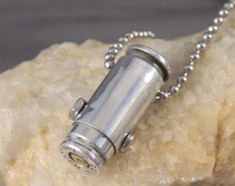 Bullet Shell Locket Necklace