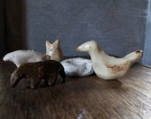 Glazed ceramic critters - 5 pieces - amulets - fetishes - SALE