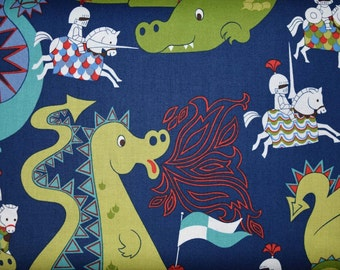 1/2 Yard of Dragons & Knights from Alexander Henry Fabrics