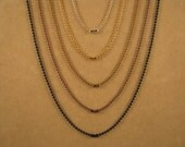 24 Inch 1.5 mm and 2.4 mm Set of 2 Ball Chain Necklaces in Silver, Sun Gold, Antique Gold, Antique Copper or Black