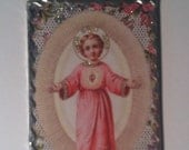 Jesus Wall Plaque Glittered Image of Young Jesus