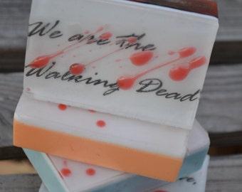 Walking Dead Inspired Soap Bars - Novelty Soap - Holiday Gift - Walking Dead - Graphic Soap - Walking Dead Party Favor - Custom Soap