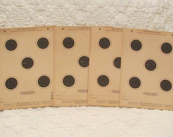 Vintage Rifle Targets 1950's lot of 4 more available