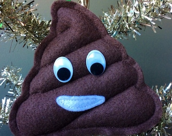 Poop Emoji Ornament