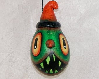 Haunted Gourd Ornament Haunted Halloween , Egg  Gourd Ornament (223)
