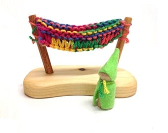 Hammock with Gnome Rainbow Colors
