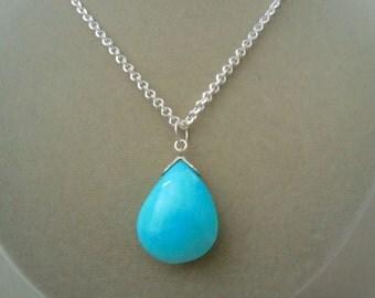 Perfect Pendant -- Peruvian Blue Amazonite Focal Pendant Necklace