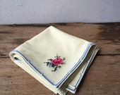 Cross stitched  Vintage Napkins - Set of Four