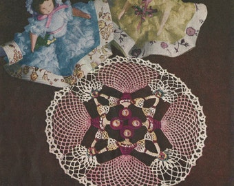 "Cameo Girl Doily Crochet PATTERN # 71 Star Book changed to a PDF instant download 7"" 9"" 11"""