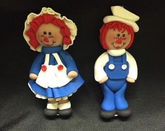 Raggedy Ann & Andy ornaments