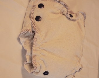 newborn small esbaby - organic fitted - lights out - nighttime - fitted cloth diaper - size 1 - purple/lilac