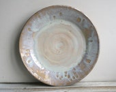 Rustic White Dinner Plate Handmade Ceramic Stoneware Pottery Dish Ready to Ship Made in USA