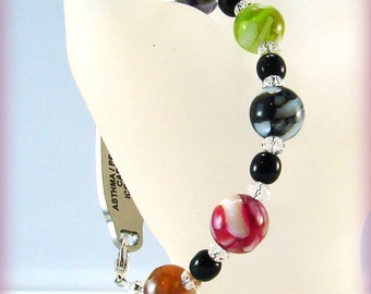 MEDICAL ID Alert Bracelet Beaded Colorful Shell Beads
