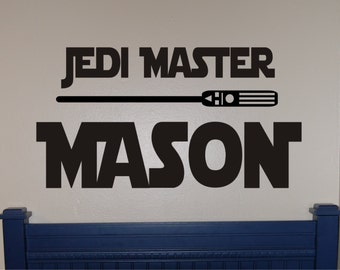 Star Wars Jedi Master Decal - Star Wars Decal - Star Wars Wall Decal - Star Wars - Star Wars Bedroom - Star Wars Decor