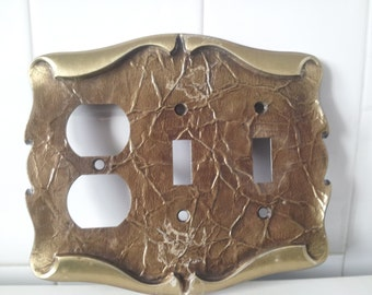 Vintage Double Toggle Light Switch Plate And Outlet Plate Carriage House Design