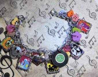 The Beatles 2, inspired Charm Bracelet, band, music legend, British, Paul McCartney