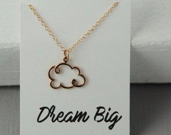 Dream Big Necklace, cloud necklace, Cloud nine, Graduation gift