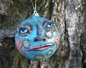 Folk Art Man in the Moon ornament