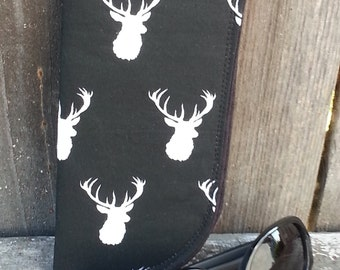Eyeglass Case - Deer Heads