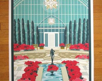 Sunken Garden, Como Conservatory, St. Paul,MN Poster