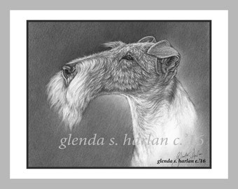 Fox Terrier Note Cards- set of Eight