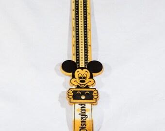 Vintage Disney Disneyland ruler Mickey Mouse slide conversion ruler
