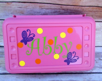Back -to- School-Personalized Pencil Box-Art Supplies-For the Classroom-First Day -of -School-Kids Paint Party