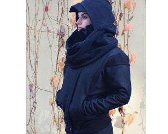 Black Womens Coat, Bomber Jacket, Biker Jacket, Women Wool Coat, Oversized Coat, Cashmere Coat, Military Coat, Winter Jacket, Black Coat