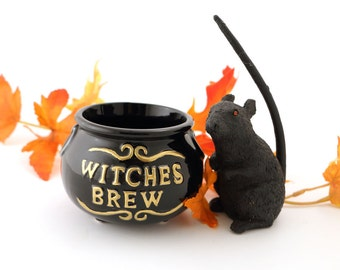 Halloween -  Witches Brew - mini cauldron - ceramics and pottery - halloween decor - gifts under 10